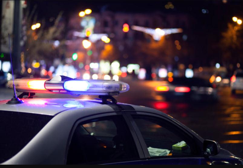 полицейские огни